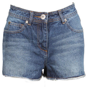 View Item Dark Blue Denim High Waist Shorts